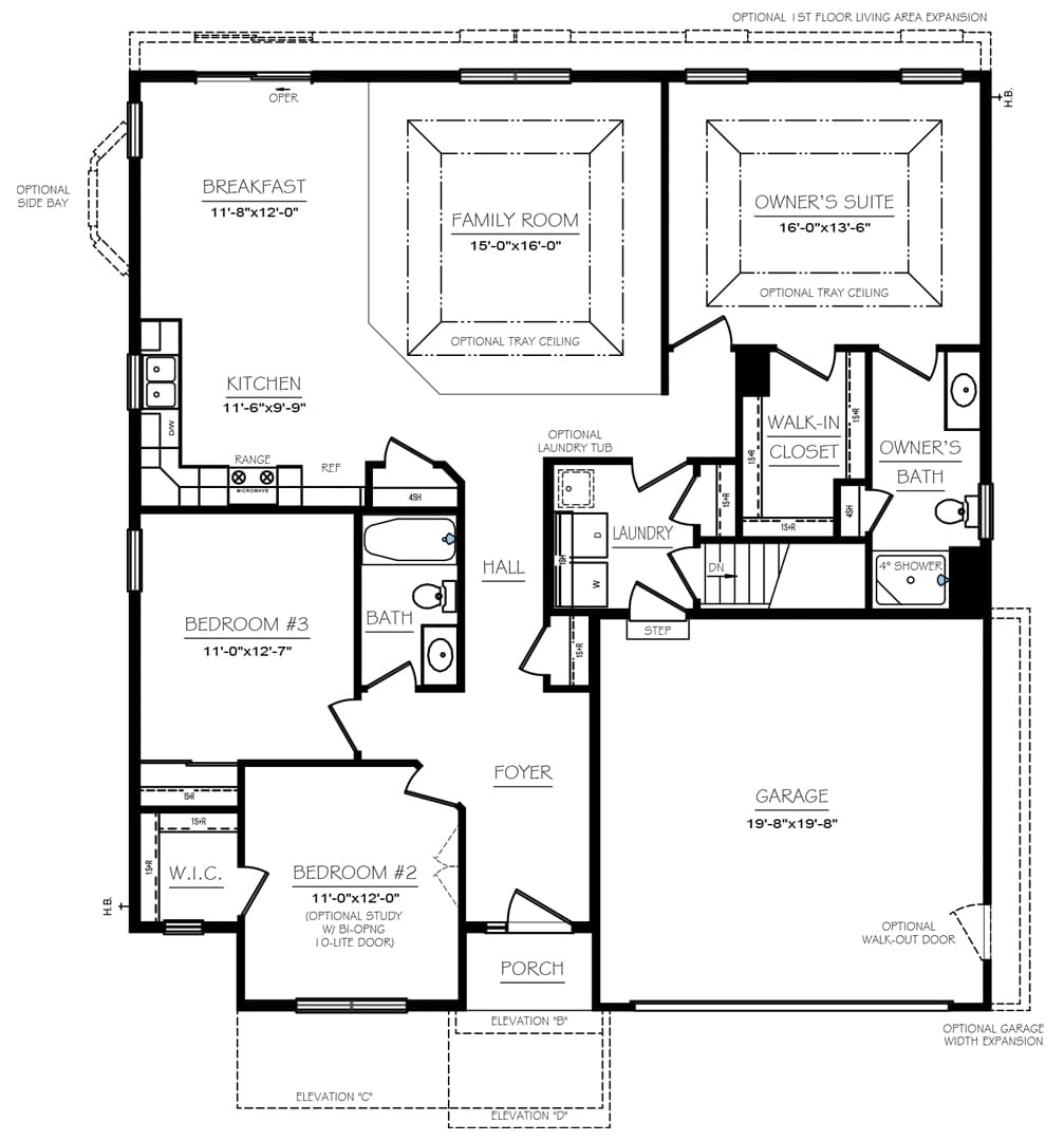 Abbey Floor Plans