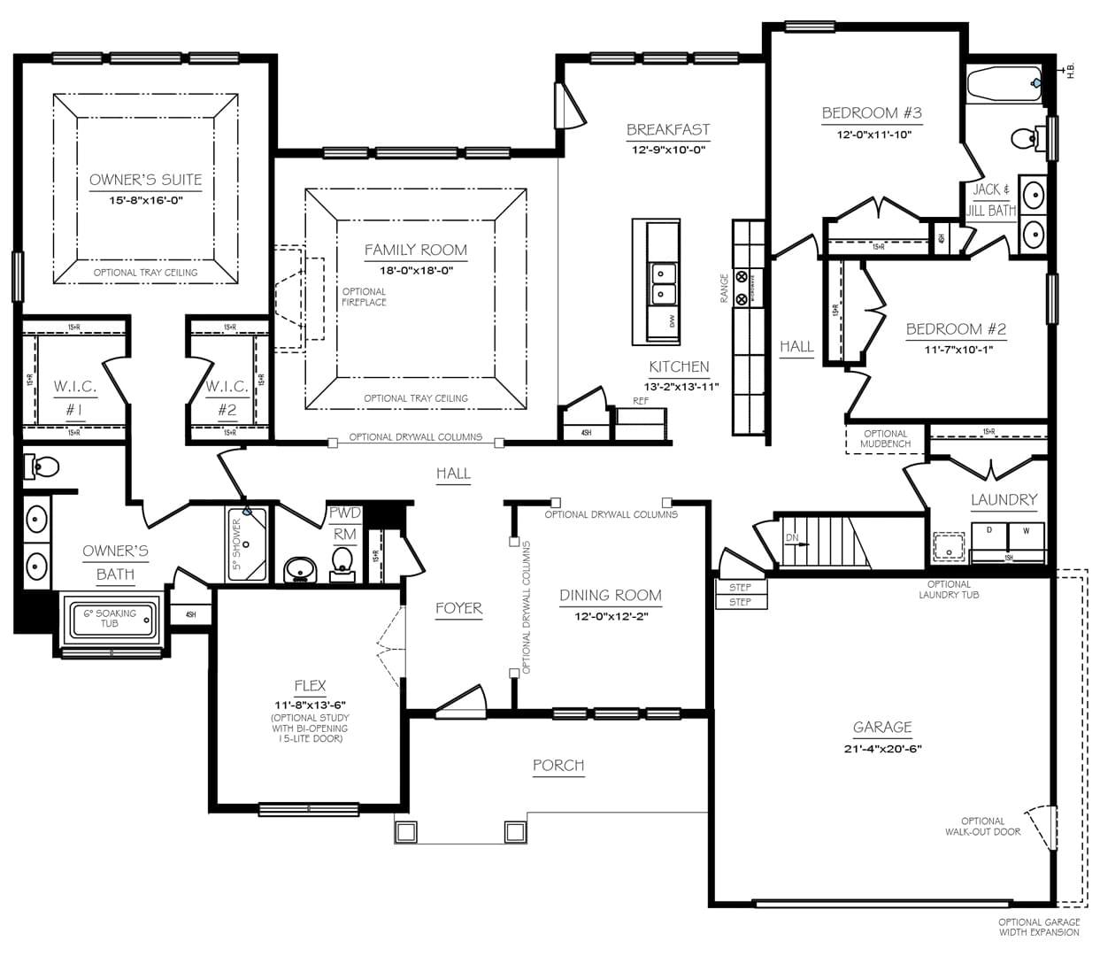 Cumberland Floor Plans